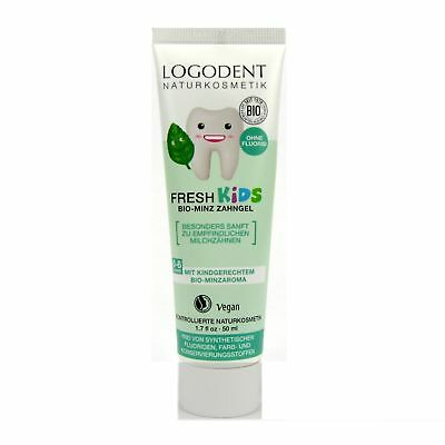(5,90/100ml) Logona Logodent Fresh Kids Zahngel Bio-Minz 50 ml