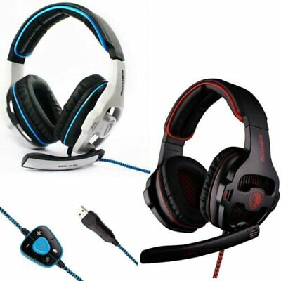 Sades SA-903 Surround Sound Pro USB Stereo 7.1 Gaming Headset Headphone with Mic
