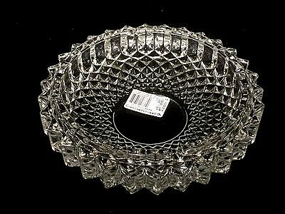 Large Clear Glass Ashtray Butt Ash Tray 19.5cm New