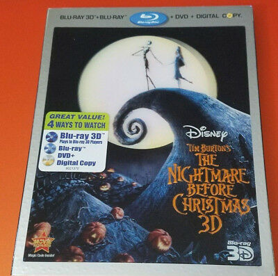 Disney The Nightmare Before Christmas 3D Blu-ray Lenticular Slip NEW