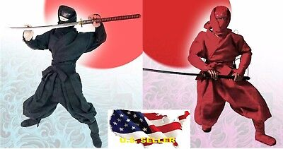 HOT FIGURE TOYS 1/6 Japanese Ninja suit Black and red tricolor toys dao ❶USA❶