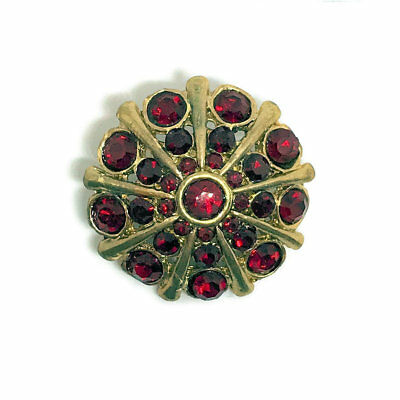 MYO Browband Supplies - Crystal & Gold Buttons (with shank) - 26mm - PAIR