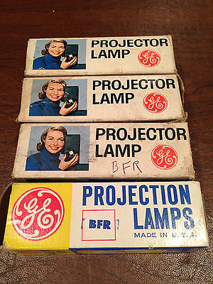Lot of 4 NEW/UNUSED NOS Vintage GE BFR Projection Projector LAMPS BULBS in Boxes