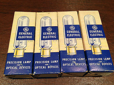 Lot 4 NEW/UNUSED NOS Vintage GE BVK/BVS Precision Optical Projector LAMPS BULBS
