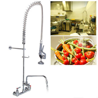 Commercial Wall Mount Pre-Rinse Faucet For Kitchen Restaurant Hotel Mall Cafe