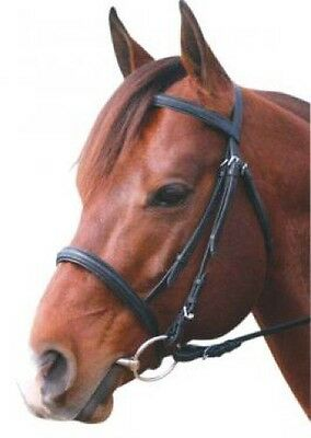 Eureka Leather CNB Snaffle Bridle In Black Or Brown~In Pony Cob Or  Full Size