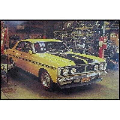 "FORD FALCON XY GTHO PHASE 3 - YELLOW CLASSIC CAR - 91 x 61 cm 36"" x 24"" POSTER x"