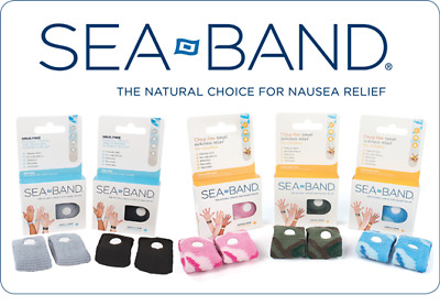Sea Band Acupressure Wrist Band For Adult Travel Motion Nausea Sickness
