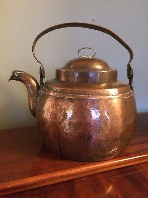 Antique Swedish 18th Century Copper Kettle