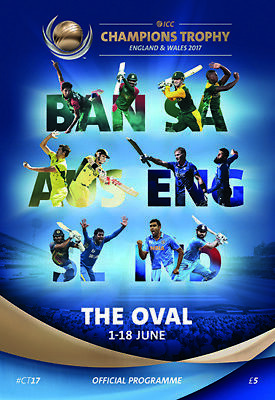 2017 Icc Champions Trophy- Oval Group Games Programme