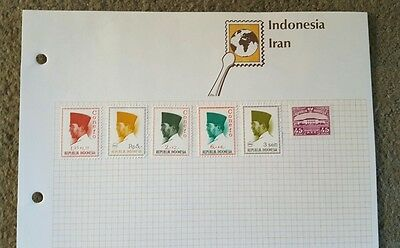 6 Stamps of Indonesia