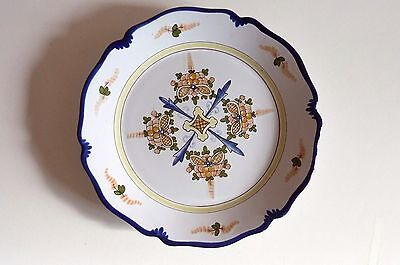 Faience De Nevers Decor Polychrome  E-Georges  Ref 105