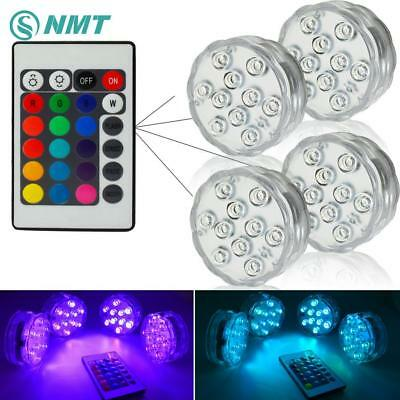 10 leds RGB Led Underwater Light Pond Submersible IP67 Waterproof Pool Light