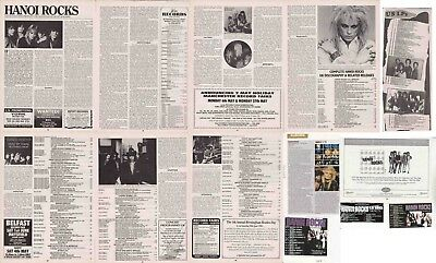 HANOI ROCKS : CUTTINGS COLLECTION -adverts- magazine article