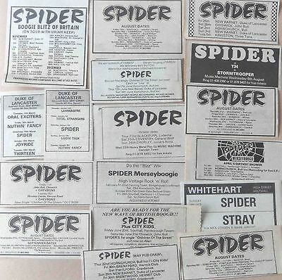 SPIDER : CUTTINGS COLLECTION -1980- adverts