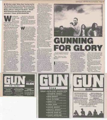 GUN : CUTTINGS COLLECTION -adverts interview-