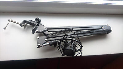 Microphone Desk Scissor Stand and Shock Mount