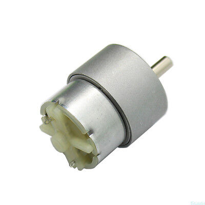 DC 12V 60RPM 37mm Shaft Cylinder Electric Geared Box Speed Reduce Motor