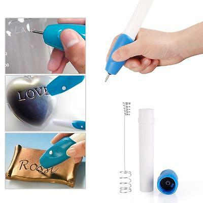 Electric Engraving Engraver Pen Carve DIY Tool For Jewelry Metal Plastic Wood AU