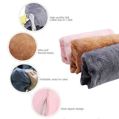 Rechargeable Electric Hot Water Bottle Heat Pad Soft Hand Warmer Pouch/Cover
