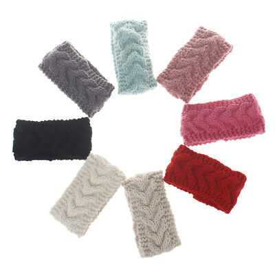 Baby Kids Girls Cross Stretch Wide Hair Band Knitted Crochet Headband Head Wrap