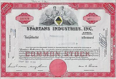 Spartans Industries Inc., Delaware, 1965 (84 Shares) rot