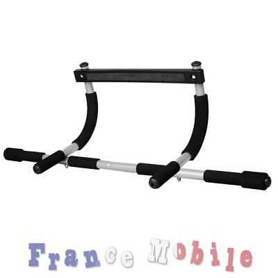 Door Way Gym Barre de Porte Traction Maison Exercice Multifonction Bar Gris Noir