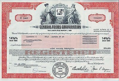 General Foods Corporation 1983, 14 3/8% Note due 1989 (100.000 $)