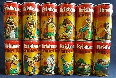 Brisbane Bitter beer cans: Commonwealth Games '82 complete set