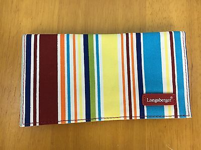LONGABERGER NEW Striped Checkbook Cover