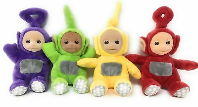 Teletubbies SET OF 4 Official SuperSoft Toys - DIPSY, Tinky, LAA LAA, Po  REFURB