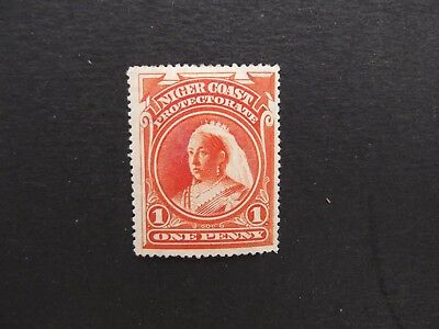 Niger Coast - Victoria 1897 One Penny Mounted Mint