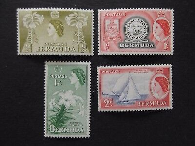 Bermuda - Elizabeth 1953 - 1962 Mounted Mint Up To Two And Six Pence
