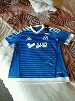 Adidas Olympique De Marseille Football Shirt-Youth Size 13-14 Yrs-Bnwt.