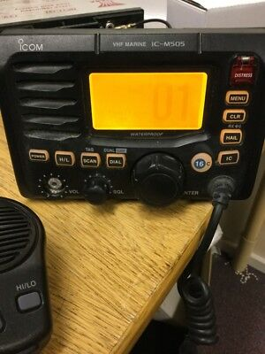 Icom IC-M505 VHF Marine Transceiver Radio Used