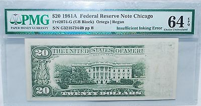 1981A $20 Federal Reserve Note Chicago - Pmg  Choice Uncirculated 64 - Epq