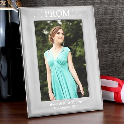 Personalised Prom Night Silver Photo Frames, 2 Sizes Available, Engraved Gift