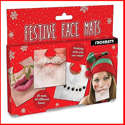 Festive Wearable drinking face mats printed on both sides