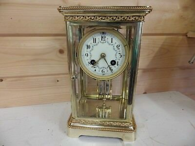 French Crystal Regulator Four Glass Clock Fully Restored Stunning Case S Marti