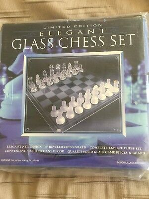 Limited Edition Elegant Glass Chess Set
