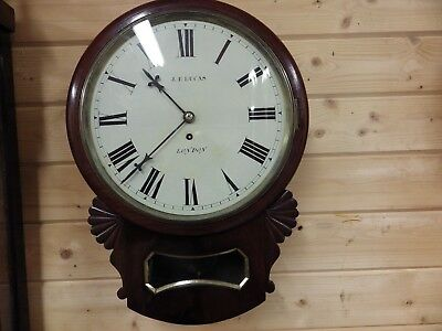 Listed London Maker English Fusee Drop Dial Clock Fully Restored Circl 1870s