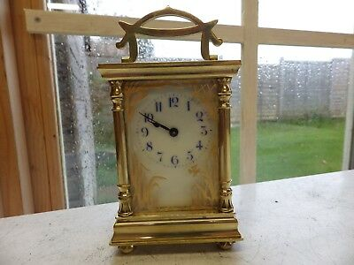 Art-Nouveau French Carriage Clock Fully Restored Very Rare Case Style Stunning