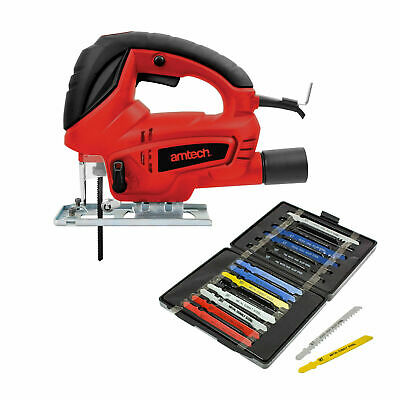 600W Pendulum Cutting Jigsaw With Dust Extraction + 15 Blades 2 Yr Warranty