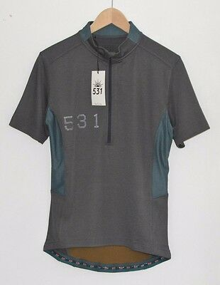 PAUL SMITH 531 grey cycling temperature control jersey t-shirt tshirt top SMALL