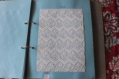 Swiss Antique Cotton Batiste Cutwork & White Embroidery Sample Book (27 Samples)