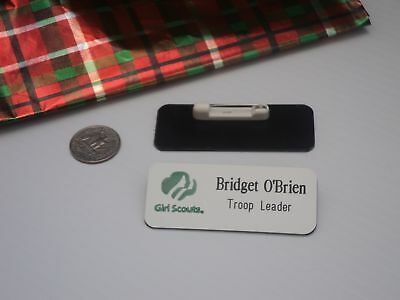 Girl Scout NAME TAGS Troop Leader or Any Title with Logo