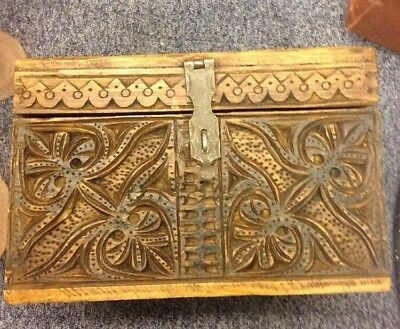 Early 19th Late 18th Century Bible Box with Carving to the Front