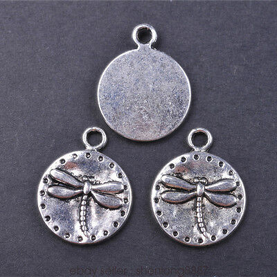 5 Pieces 19*15mm Charms dragonfly Tibetan Silver Metal Charm DIY Pendant 7628F