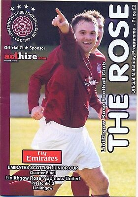 LINLITHGOW ROSE v BO'NESS UNITED SCOTTISH JUNIOR CUP QUARTER FINAL 2012 / 2013