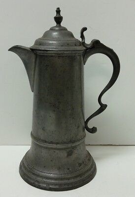 Large Antique Thomas T.D. & S.B. Sherman Boardman Pewter Pitcher
